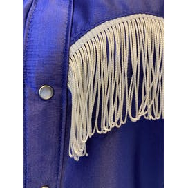 Purple Rodeo Snap Button Up with Fringe Detail by Rockmount Ranch Wear