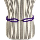 another view of Purple Woven Rope Belt