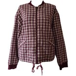 Raspberry Plaid Bomber by basic editions