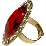 another view of Red Rhinestone Statement Ring