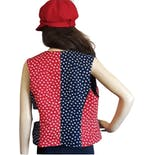 another view of 90's Red and Blue Patriotic Star Print Reversible Vest
