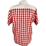 another view of Red and White Checkered Button Up Top by Pat Fashions