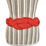 Red Woven Rope Belt