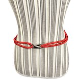 another view of Red Woven Rope Belt