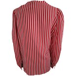another view of Red and White Striped Long Sleeve Blouse by Adrianna Papell