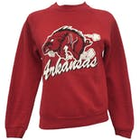 Red Arkansas Graphic Print Sweatshirt by Jerzees