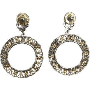 Antique Finish Earrings