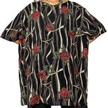 90's Black Rosebush Print Super Stretch Top