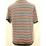 another view of Striped Short Sleeve Sweater by Sag Harbor