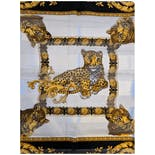 another view of Ornate Gold and Black Cheetah Scarf