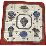another view of Hot Air Balloon Novelty Printed Scarf by Celine