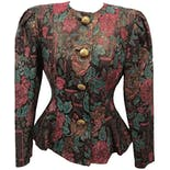 Shimmery Floral Patty O'neil Jacket with Tapered Waist by Patty O'neil