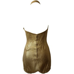 50's Shiny Gold Swimsuit by Monterey