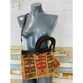 70's Tapestry Bag with Removable Strap