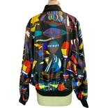 another view of Silk Blend Trippy Bomber Jacket