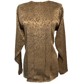 Silky Black and Gold Blouse by Yves St. Clair