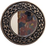 Silver Floral Pocket Mirror