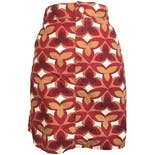 Red, White and Beige High Rise Floral Skort byCroft and Barrow
