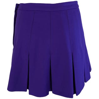 Purple Pleated Mini Skirt by Timandra