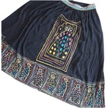 another view of 80's Whimsical Slit Side Midi Skirt by Dorothy Schoelen