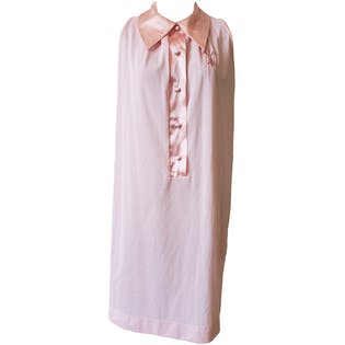 60's Pink Sleeveless House Dress with Fleur De Lis by Gossard Artemis