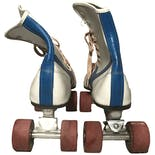 another view of White, Red, and Blue Roller Skates by Roller Derby