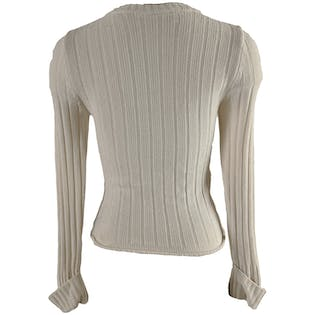 Soft White Cable Knit Sweater by Jordache