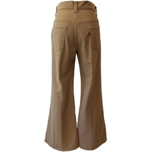 Soft Tan Textured Flare Leg Pants by Levi's
