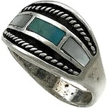 Southwestern Men's Saddle Ring