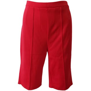Stretchy Red Bermuda Short by Porette