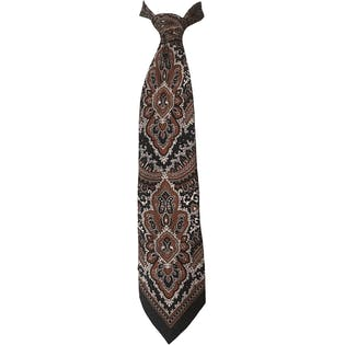 90's Neutral Paisley Neck Tie by Mayco