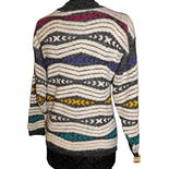 80's Pattern Low Turtleneck Sweater