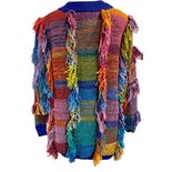 another view of Rainbow Shag Fringe Sweater