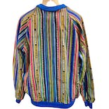 another view of Heavy Woven Cotton Ikat Raglan Sweatshirt