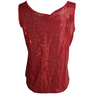 90's Red Metallic Dot Tank Top by Gilligan & O' Malley