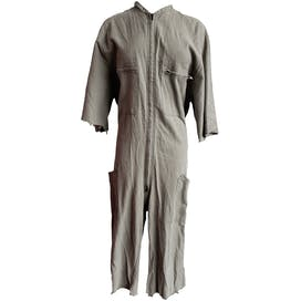 Taupe Cutoff Coveralls