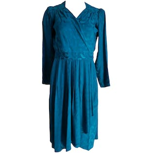 Teal Wrap Dress with Patternby Argenti