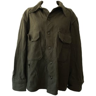 Distressed Thick Green Army Style Jacket