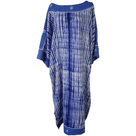 Light Blue Tie Dye Stripe Caftan