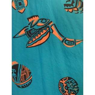 Tribal Patterned Turquoise Dress