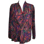 Trippy Paisley Multicolor Blouse by Alexandria