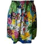 Tropical Bright Printed Skirt