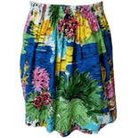 another view of Tropical Bright Printed Skirt