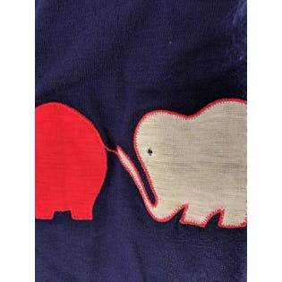 Navy Elephant Shirt by Young Editions