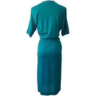 Turquoise Faux Wrap Dress by Carlisle