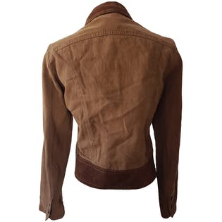 Two Toned Brown Cropped Jacket by Margaret Godfrey