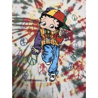 90's Tye Die Betty Boop T-Shirt by Hanes