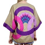 80's Avant Garde Wide Sleeve Wrap Jacket by Opus 1 By Diana Martin