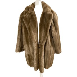 80's Taupe Fur Coat