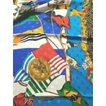 another view of *DEADSTOCK Diane Freis Nautical-Theme Silk Scarf by Diane Freis